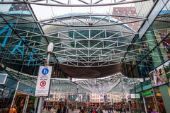 Modern shopping center Spazio in Zoetermeer, Netherlands. Zoetermeer, Netherlands - April 22, 2016: shopping center Spazio with unidentified people. From Stock Photos