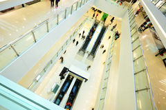 Modern shopping mall. People in rush Stock Image