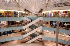 Modern Upscale  Shopping Mall Royalty Free Stock Images
