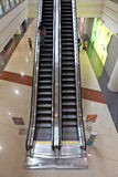 Modern shopping mall escalator Royalty Free Stock Photo