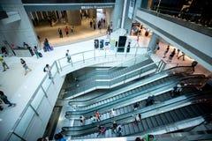 Modern Shopping Mall in Hong Kong. Inner view Stock Image
