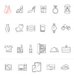 Modern Shopping, sale icon set Royalty Free Stock Images