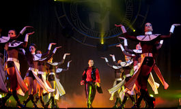 modern show för bankettdansafton Arkivfoto
