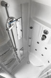 Modern Shower. High angle perspective of the inside of a modern shower Royalty Free Stock Image