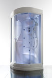 Modern Shower. Luxury shower cabin with hydrotherapy and chromotherapy Royalty Free Stock Image