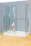 Modern shower. Modern see through glass double shower cabin Stock Photography
