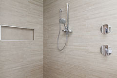 Modern shower in bathroom Stock Images