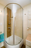 Modern shower cabin. A modern shower cabin in a bathroom royalty free stock photo