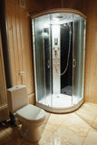 Modern shower cabin and toilet Royalty Free Stock Photos