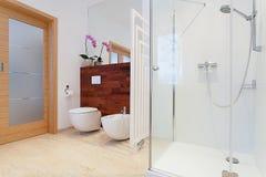 Modern shower closeup Stock Photo