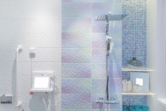Modern shower head in bathroom Stock Photography