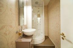 Modern shower, interior bathroom Royalty Free Stock Image