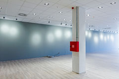 Modern showroom at business centre with ceiling modern floodligh Stock Photography