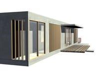 modern sikt för arkitekturingång stock illustrationer