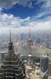 modern sikt för flyg- stad Arkivbilder