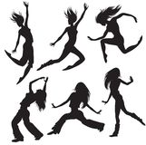 modern silhouette för dansare Royaltyfri Foto