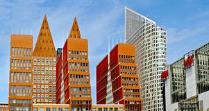 Modern silhouettes the Hague. The Netherlands Royalty Free Stock Photo