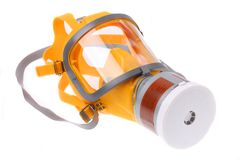 Modern silicone rubber gas mask Royalty Free Stock Photos