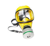 Modern silicone rubber gas mask on white Royalty Free Stock Photography