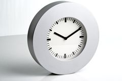 Modern silve wall clock Royalty Free Stock Photo