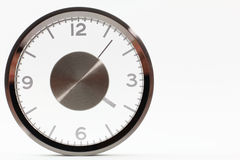 Modern Silver Clock Royalty Free Stock Photography
