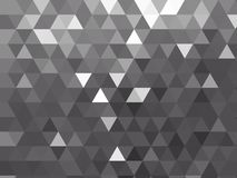 Modern silver grey metallic polygon background with repeating triangle design stock photos