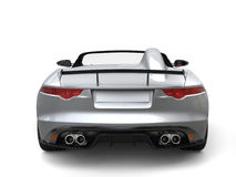Modern silver luxury cabriolet sports car - back view Stock Photos