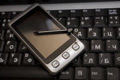 Modern silver pda Royalty Free Stock Photography