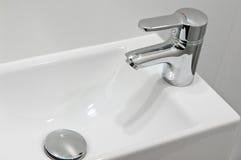 Modern silver tap Stock Photo