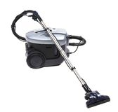 Modern silver vacuum cleaner. Stock Photos
