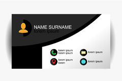 Modern simple business card template with flat user interface. Vector Design Stock Photo