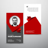 Modern simple business card template Stock Photography