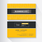 Modern simple business card template. Vector illustration Royalty Free Stock Photography