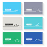 Modern simple  cards Royalty Free Stock Photography