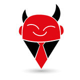 Modern and simple devil illustration Royalty Free Stock Photography