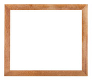 Modern simple flat wooden picture frame Stock Image