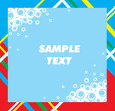 Modern simple frame.Vector. royalty free illustration