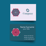 Modern simple light business card template Royalty Free Stock Photography