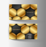 Modern simple light business card Royalty Free Stock Photography