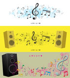 Modern simple notes panoramic backgrounds Royalty Free Stock Images