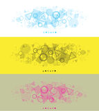 Modern simple panoramic backgrounds Royalty Free Stock Photo