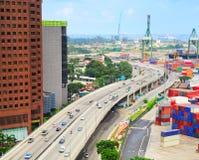Modern Singapore highway Stock Image