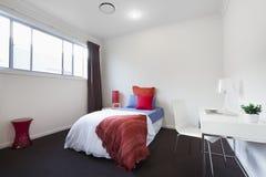 Modern single bedroom Stock Photography