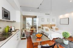 Modern single bedroom house Stock Photography