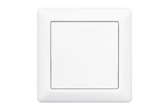 Modern Single Light Switch Stock Photo