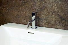 Modern sink detail Royalty Free Stock Photos