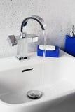 Modern sink mixer tap Stock Photography