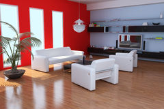 Modern sitting room Stock Images