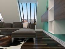 Modern sitting room interior decor Stock Photos