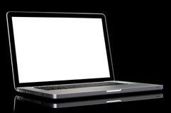 modern skärmwhite för bärbar dator Fotografering för Bildbyråer